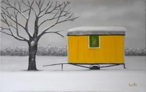 La roulotte jaune 25 x 40