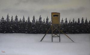 Le-poste d'observation en hiver 25x40