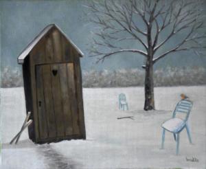 Première neige 27x22