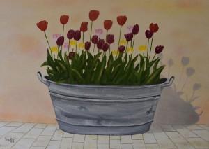 La bassine de tulipes P