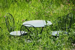 les meubles de jardin confinés